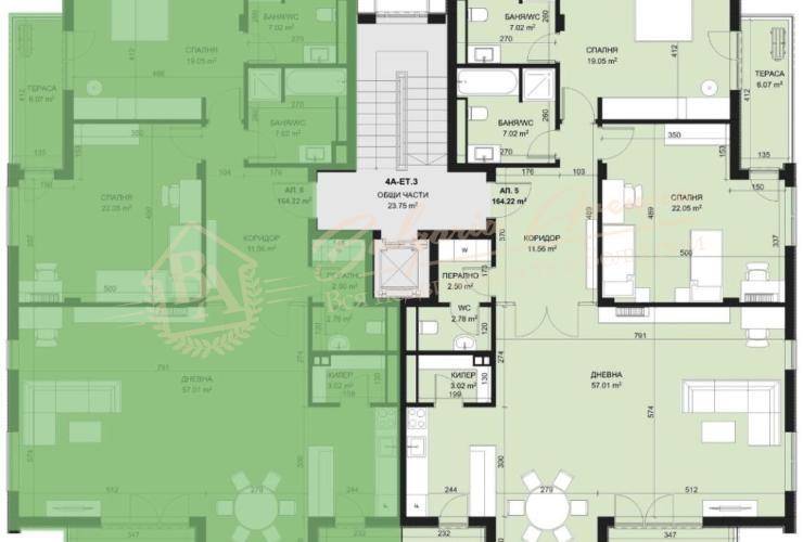 Квартиры, жилой дом Evergreen, г.Варна
